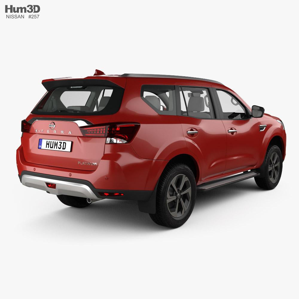 Nissan X-Terra Platinum with HQ interior 2020 3d model