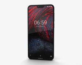 Nokia 6.1 Plus Black 3D model