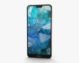 Nokia 7.1 Gloss Steel 3D model