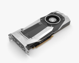 NVidia GeForce GTX 1080 TI 3D model
