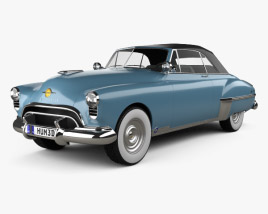 Oldsmobile 88 Futuramic Convertible 1949 3D model