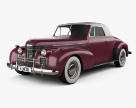Oldsmobile 80 Convertible 1939 3D model