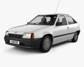 Opel Kadett E Hatchback 3-door 1984-1991 3D model