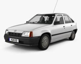 Opel Kadett E Hatchback 5-door 1984-1991 3D model