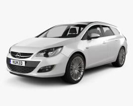 Opel Astra J sports tourer 2012 3D model