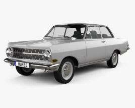 Opel Rekord (A) 2-door sedan 1963 3D model