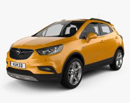 Opel Mokka X with HQ interior 2017 3D model