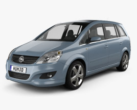 Opel Zafira (B) 2009 3D model