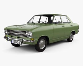 Opel Kadett 4-door sedan 1965 3D model