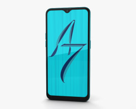 Oppo A7 Glaze Blue 3D model