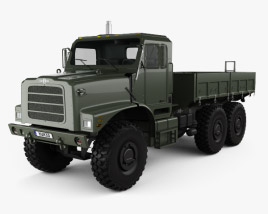 Oshkosh Terramax Flatbed Truck 2013 3D model