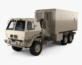 Oshkosh FMTV M1087 A1P2 Expansible Van Truck 2016 3D model