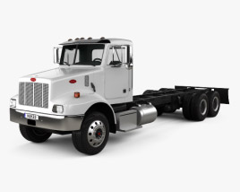 Peterbilt 330 Chassis Truck 3-axle 2003 3D model