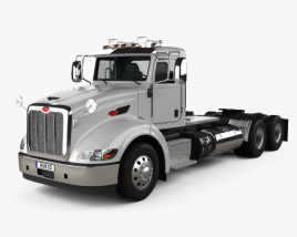 Peterbilt 384 Day Cab Tractor Truck 2014 3D model