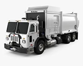 Peterbilt 520 Garbage Truck McNeilus 2016 3D model