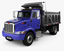 Peterbilt 340 Dump Truck 2009 3D model