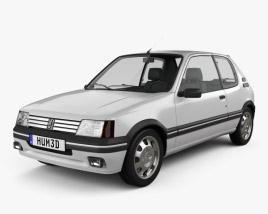 Peugeot 205 3-door GTI 1983-1998 3D model