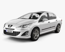 Peugeot 408 2012 3D model