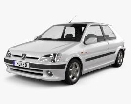 Peugeot 106 GTI 3-door 1997 3D model