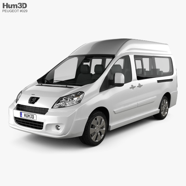 peugeot expert ii combi l2h2 2011 3d model vehicles on hum3d. Black Bedroom Furniture Sets. Home Design Ideas