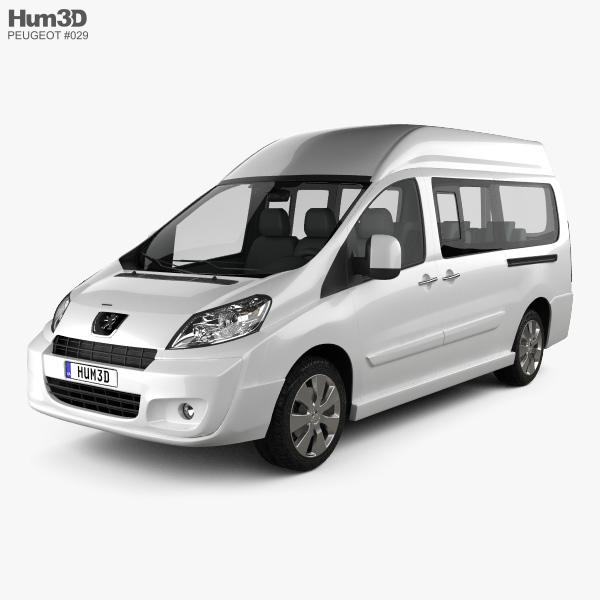peugeot expert ii combi l2h2 2011 3d model vehicles on hum3d. Black Bedroom Furniture Sets. Home Design Ideas