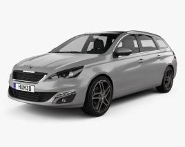 Peugeot 308 SW 2014 3D model