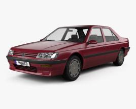 Peugeot 605 1989 3D model