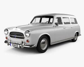 Peugeot 403 Familiale 1956 3D model