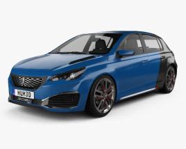 Peugeot 308 R Hybrid 2015 3D model