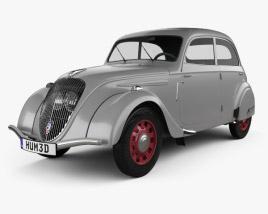 Peugeot 202 Berline 1938 3D model