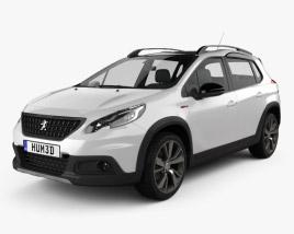 Peugeot 2008 GT Line 2017 3D model