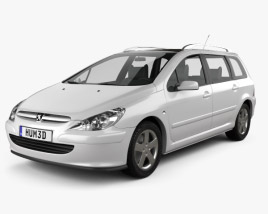 Peugeot 307 SW 2001 3D model