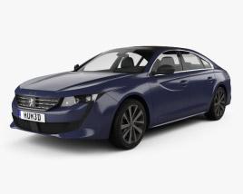 Peugeot 508 liftback 2018 3D model