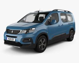 Peugeot Rifter Long 2018 3D model