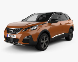 Peugeot 3008 with HQ interior 2016 3D model