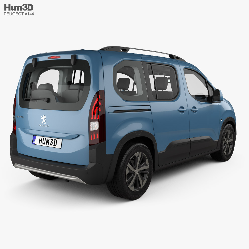 Peugeot Rifter with HQ interior 2018 3d model