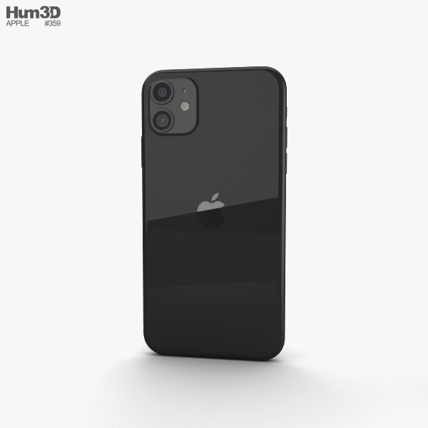 Apple iPhone 11 Black 3D model