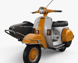 Piaggio Vespa PX 200 Sidecar 1998 3D model