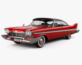 Plymouth Fury coupe Christine 1958 3D model