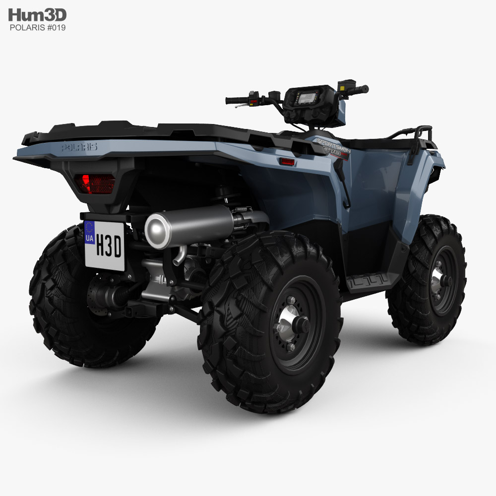 Polaris Sportsman 570 2021 3d model