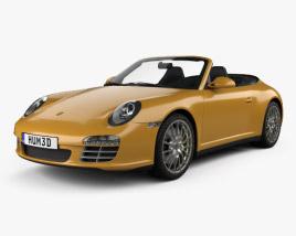 Porsche 911 Carrera 4 Cabriolet 2011 3D model
