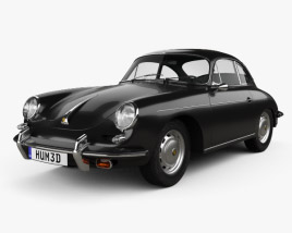 Porsche 356B Carrera 2 Coupe 1962 3D model