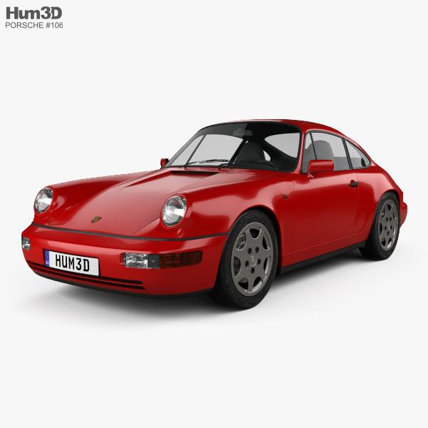 Porsche Carrera: Porsche 911 Carrera 4 Coupe (964) 1989 3D Model