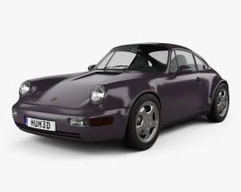 Porsche 911 Carrera 4 Coupe (964) Turbolook 30th anniversary 1993 3D model