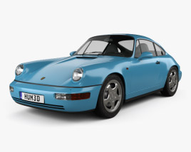 Porsche 911 Carrera RS Coupe (964) 1992 3D model