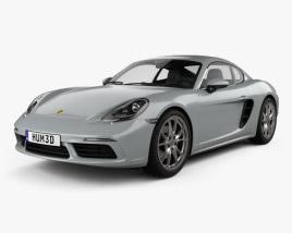 Porsche Cayman 718 (982C) 2016 3D model