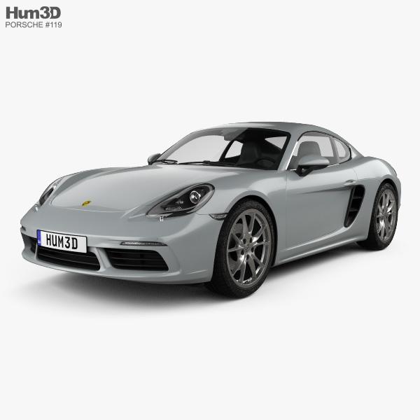Porsche Cayman: Porsche Cayman 718 (982C) 2016 3D Model