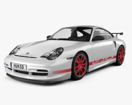 Porsche 911 GT3RS Coupe (996) 2003 3D model