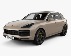 Porsche Cayenne Turbo with HQ interior 2017 3D model