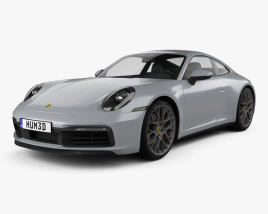 Porsche 911 Carrera 4S coupe 2019 3D model